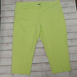 Lane Bryant Green Capris Cropped Pants